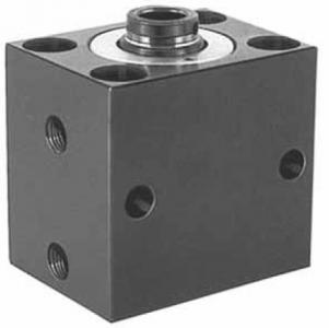 Hydraulic block cylinder, double-action