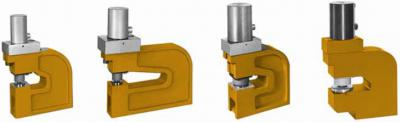 Hydraulic punching units, double-action
